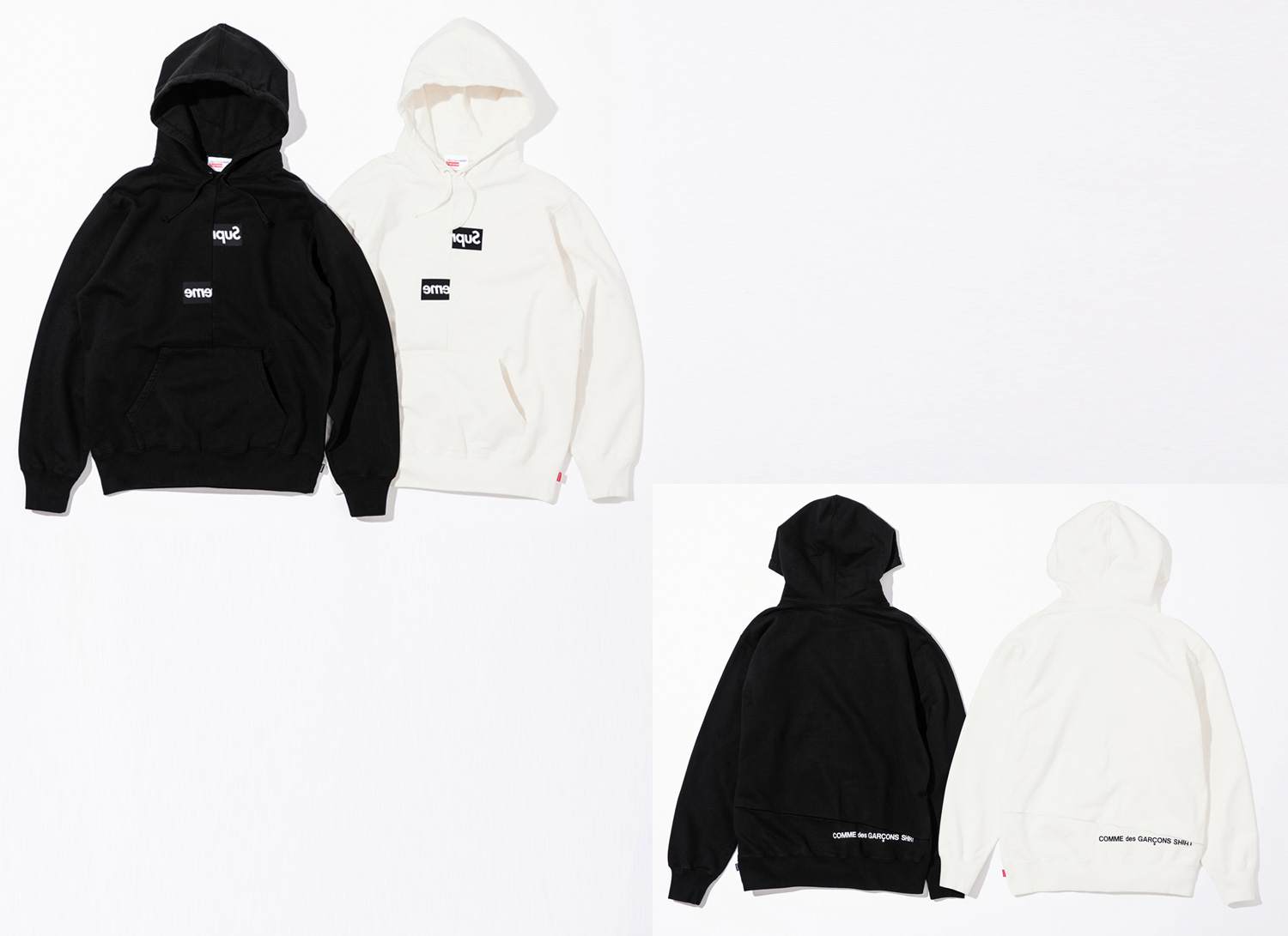 Supreme シュプリーム 18fw week4 Supreme®/Comme des Garçons SHIRT® Split Box Logo Hooded Sweatshirt