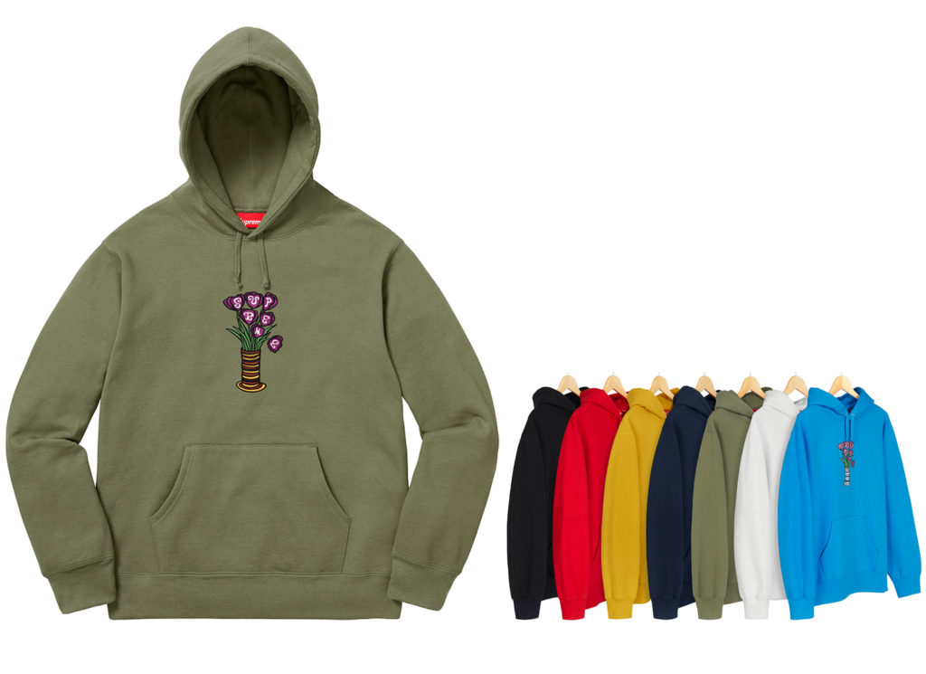 Flowers Hooded Sweatshirt