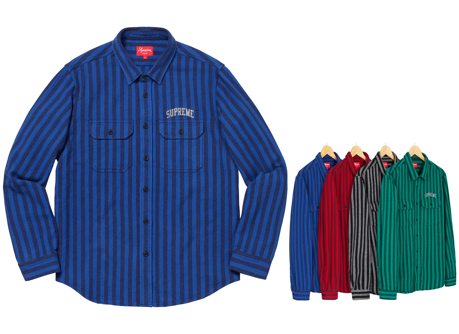 Stripe Heavyweight Flannel Shirt