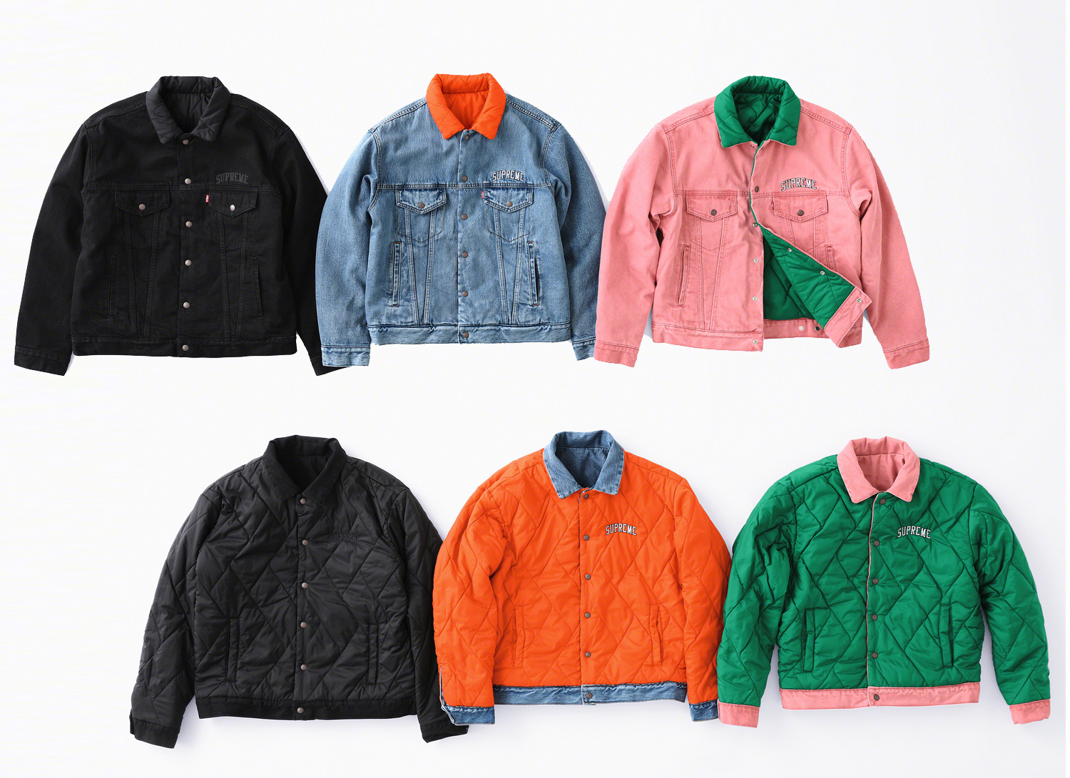 Supreme/Levis Quilted Reversible Trucker Jacket