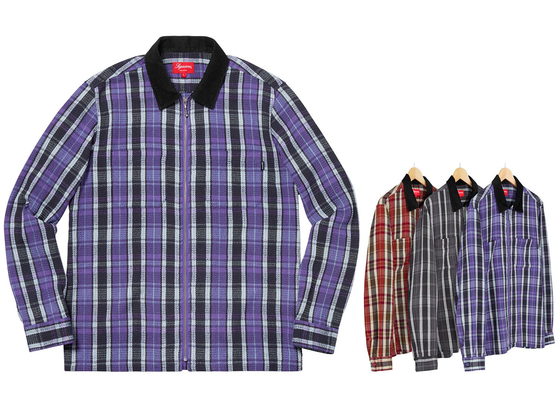 Plaid Thermal Zip Up Shirt