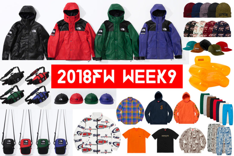 Supreme シュプリーム 18fw 18aw week9 The North Face ノースコラボ