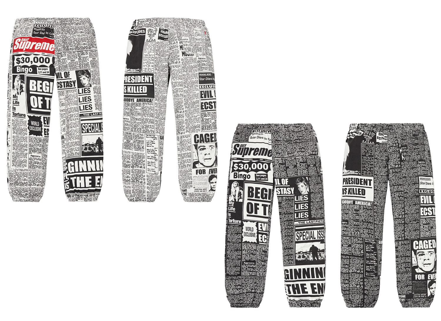 Newsprint Skate Pant