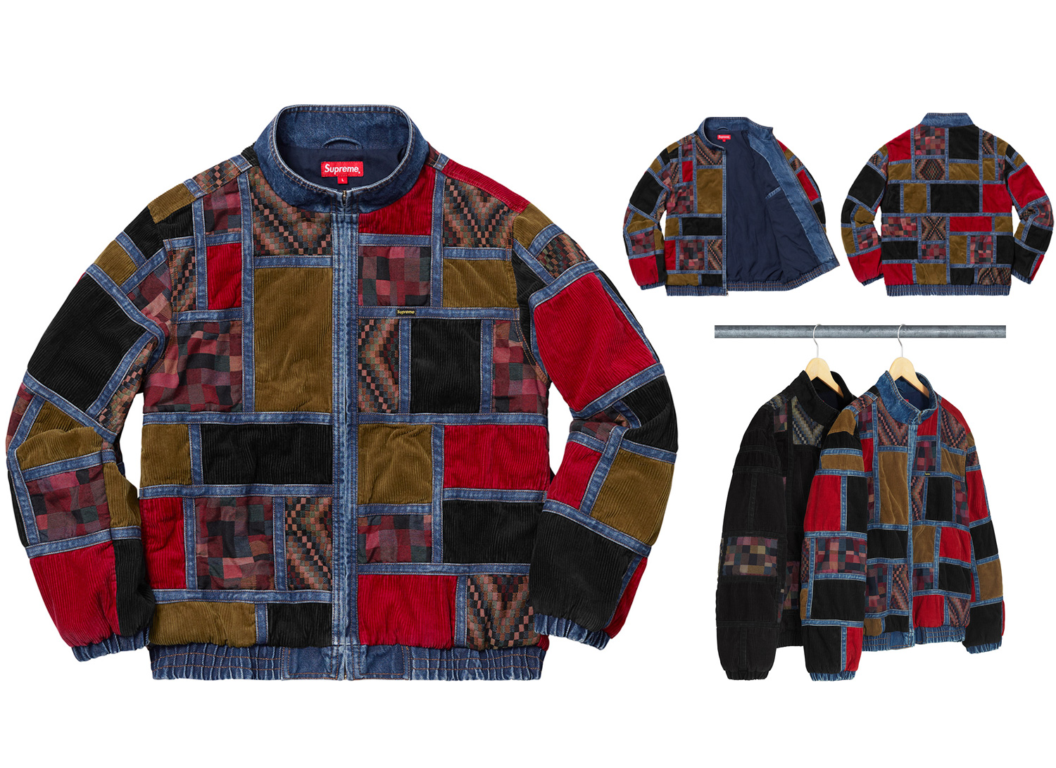 Corduroy Patchwork Denim Jacket