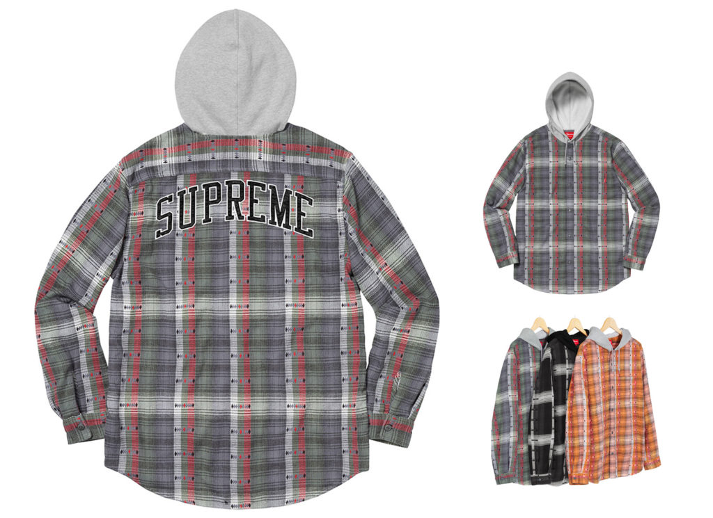 Hooded Jacquard Flannel Shirt