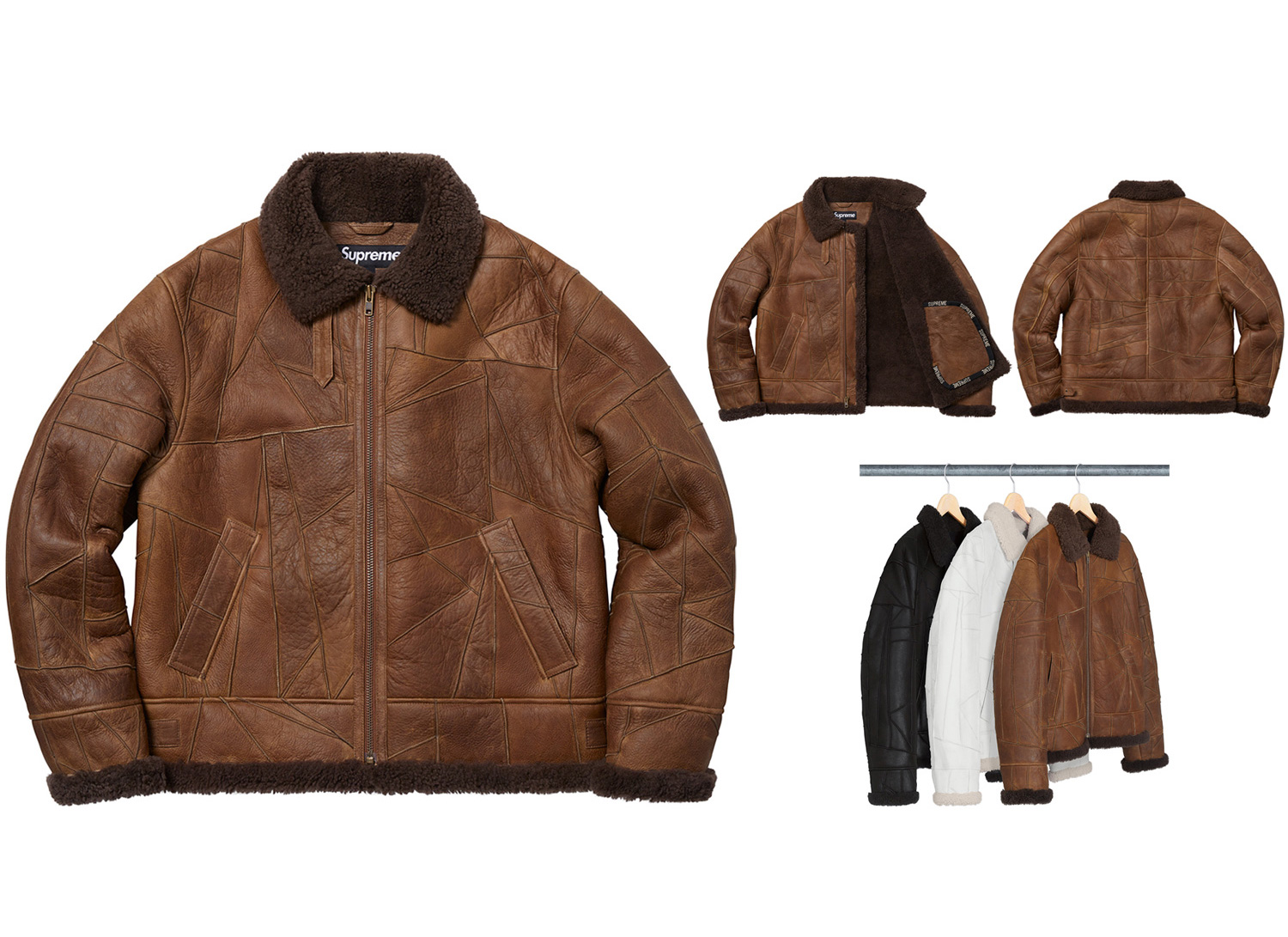 Patchwork Shearling B-3 Jacket