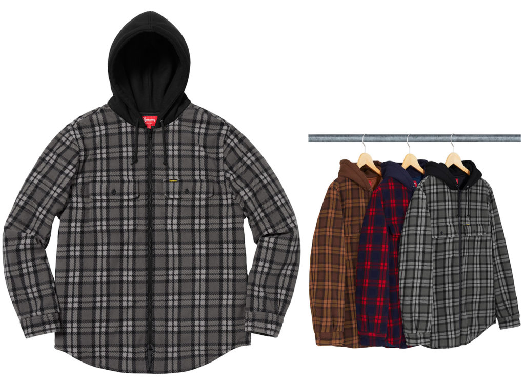 Hooded Plaid Work Shirt