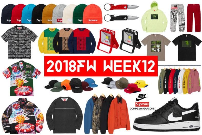 Supreme シュプリーム 18fw 18aw week12 Comme des Garçons SHIRT® Nike Air Force 1 Low コムデギャルソンコラボ