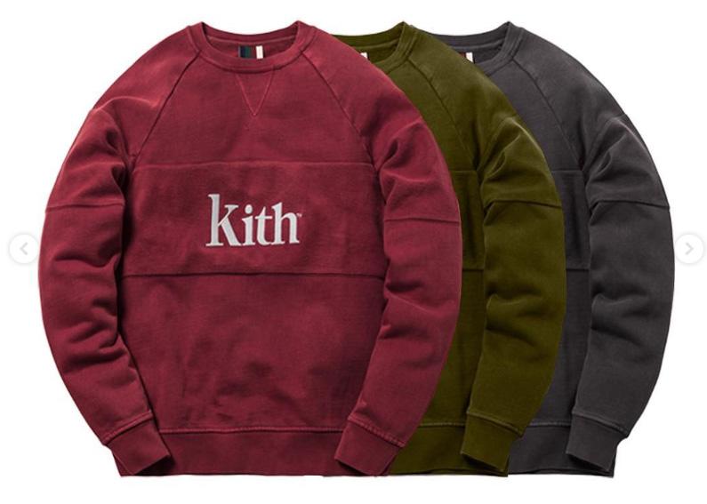KITH CLASSICS COLLECTION 2018.11/30発売 クルーネック スウェットシャツ