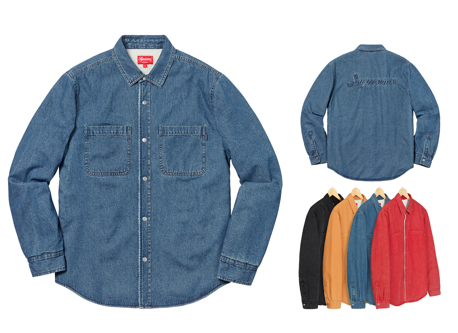 Supreme シュプリーム 18fw 18aw week18 Sherpa Lined Denim Shirt
