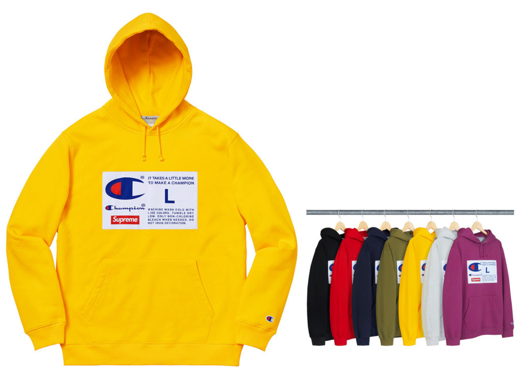 Supreme®/Champion® Label Hooded Sweatshirt