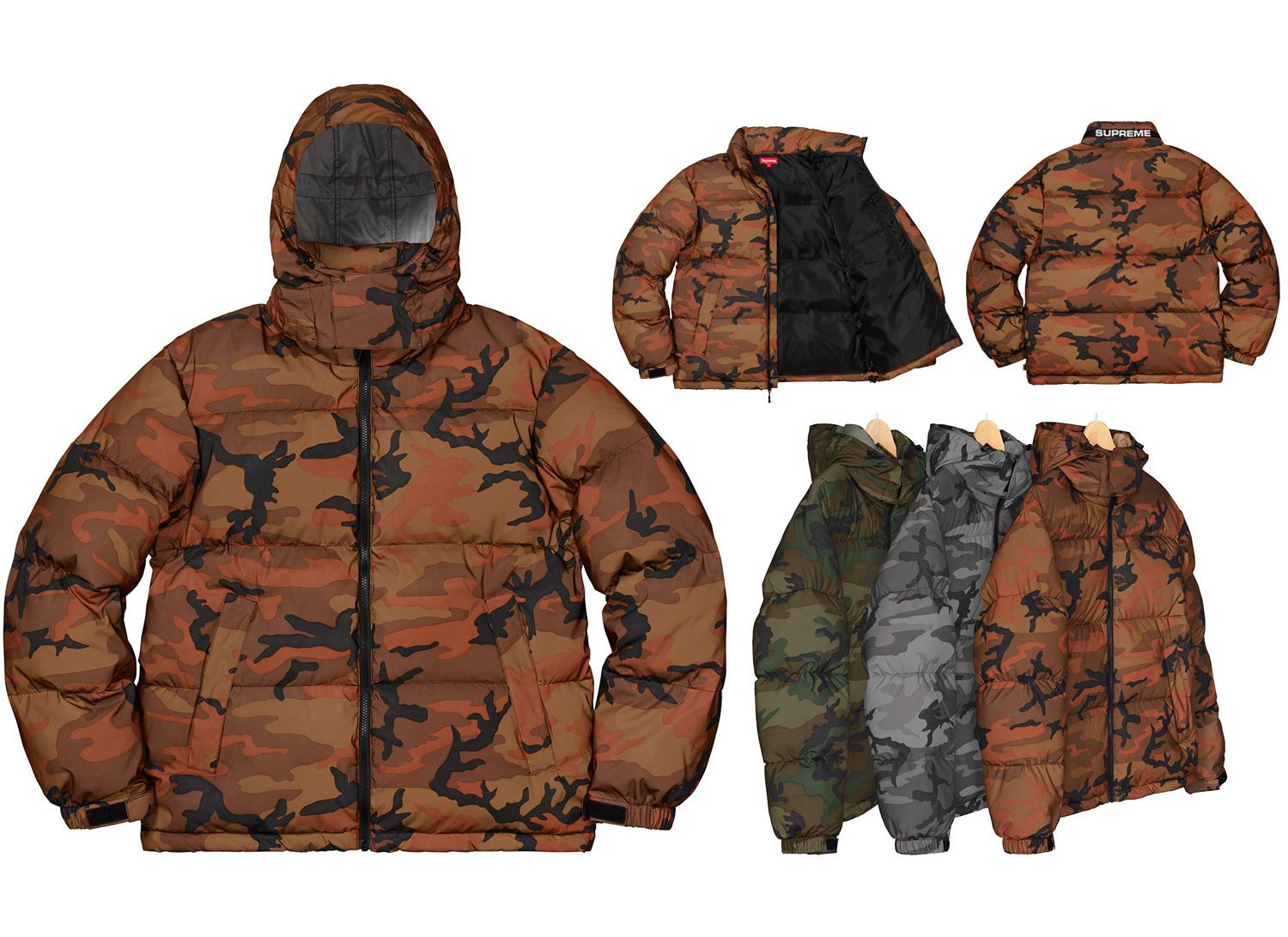 Reflective Camo Down Jacket