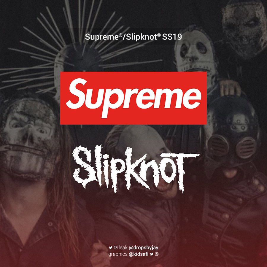supreme シュプリーム リーク 2019ss 19ss Supreme x Slipknot Tees, outerwear, accessory, stickers & More