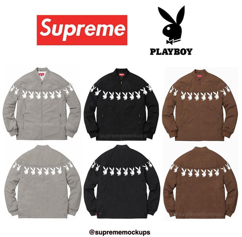 supreme シュプリーム リーク 2019ss 19ss Playboy Zip Up Jacket