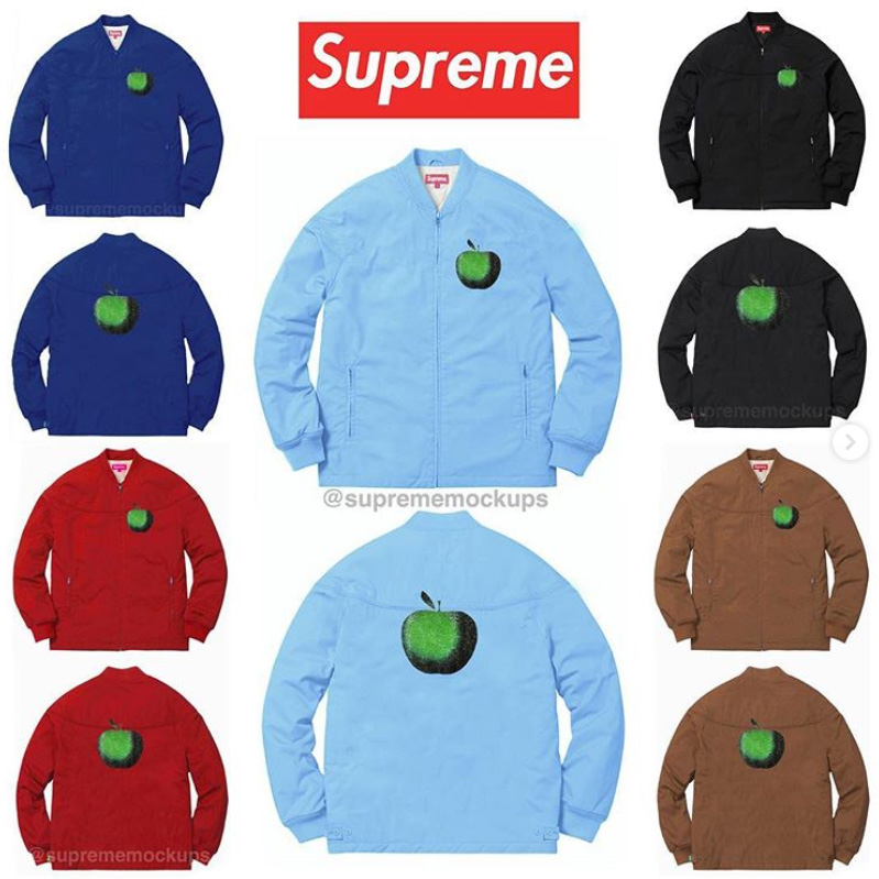 supreme シュプリーム リーク 2019ss 19ss Apple Zip Up Jacket