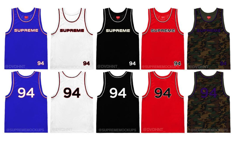 supreme シュプリーム リーク 2019ss 19ss Embroidered Logo Basketball Jersey