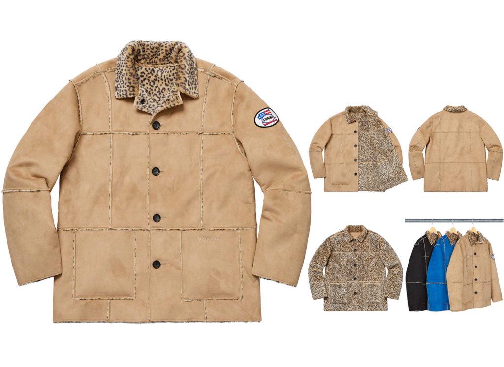 Reversible Faux Suede Leopard Coat