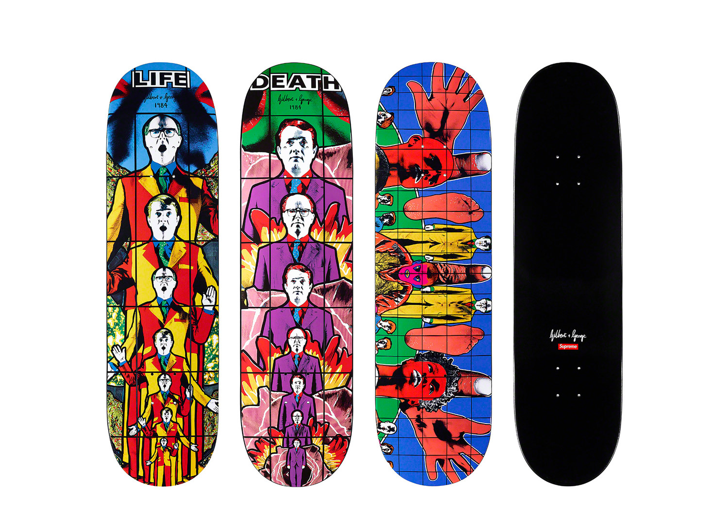Gilbert & George - LIFE, DEATH and DEATH AFTER LIFE Skateboards