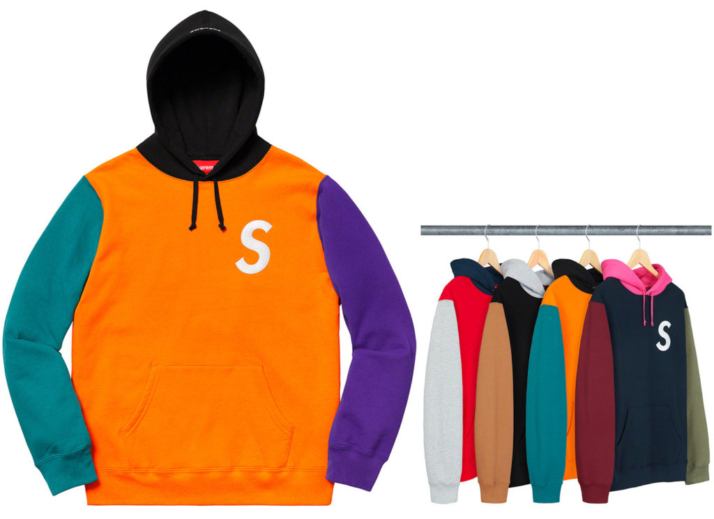 S Logo Colorblocked Hooded Sweatshirt