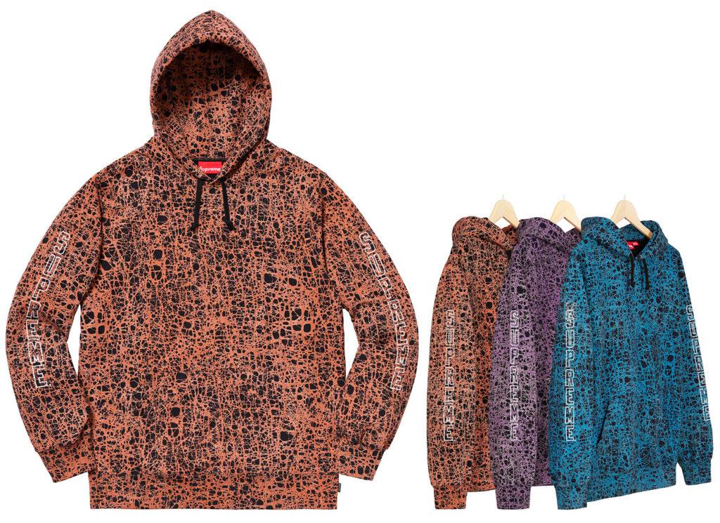 Marble Hooded Sweatshirt