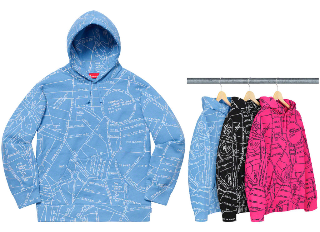 Gonz Embroidered Map Hooded Sweatshirt