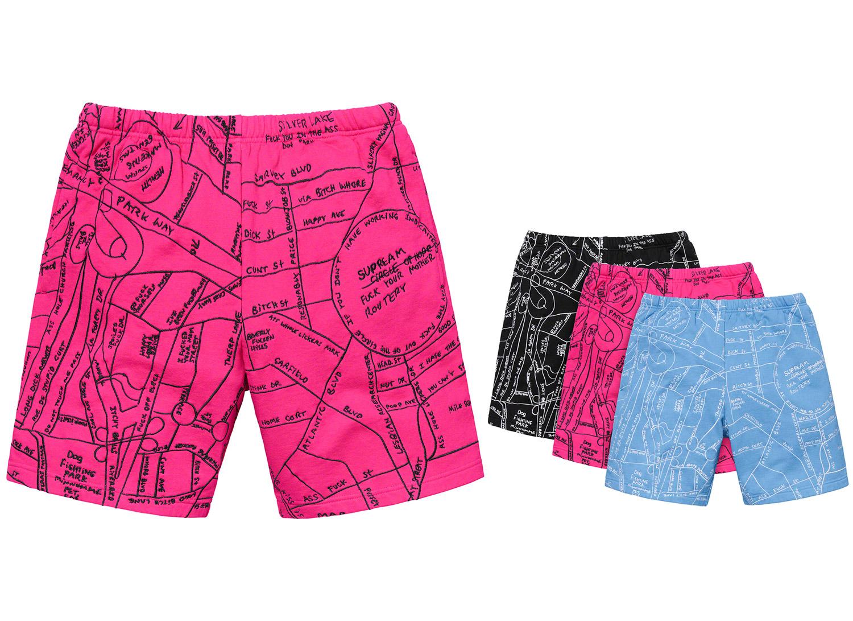 Gonz Embroidered Map Sweatshort