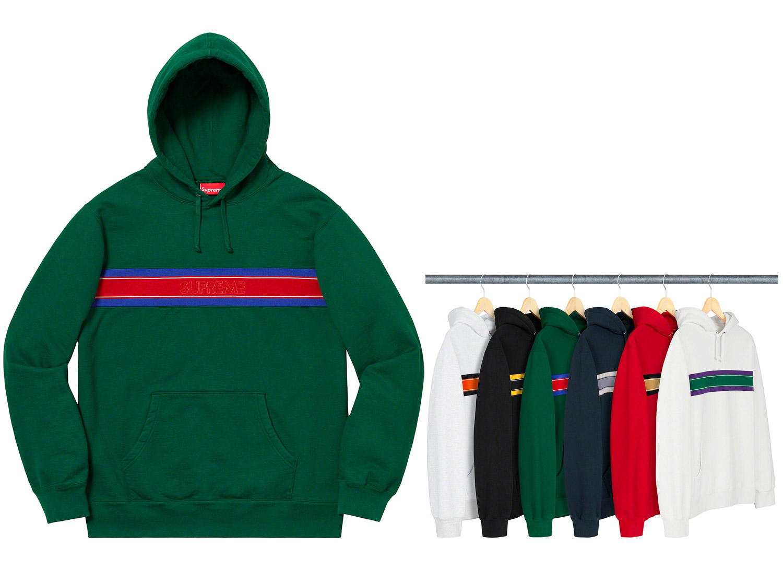 Chest Stripe Logo Hooded Sweatshirt