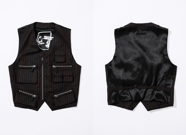 Pinstripe Cargo Suit Vest