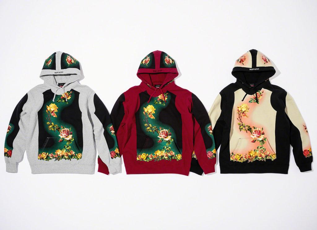 Floral Print Hooded Sweatshirt