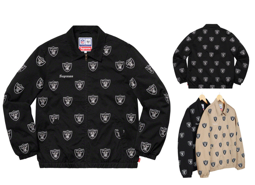 Supreme®/Raiders®/'47 Embroidered Harrington Jacket