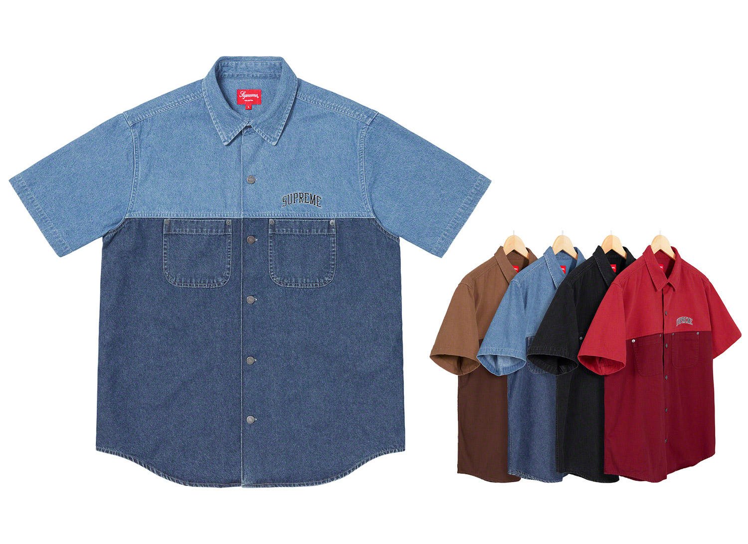 2-Tone Denim S/S Shirt