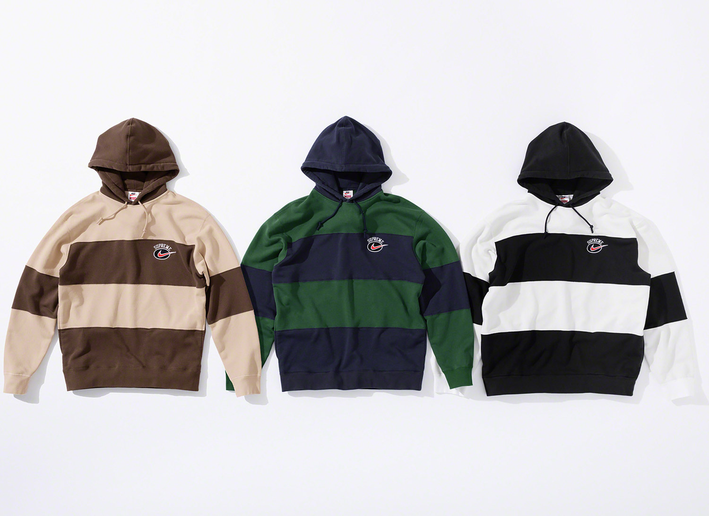 Supreme®/Nike® Stripe Hooded Sweatshirt