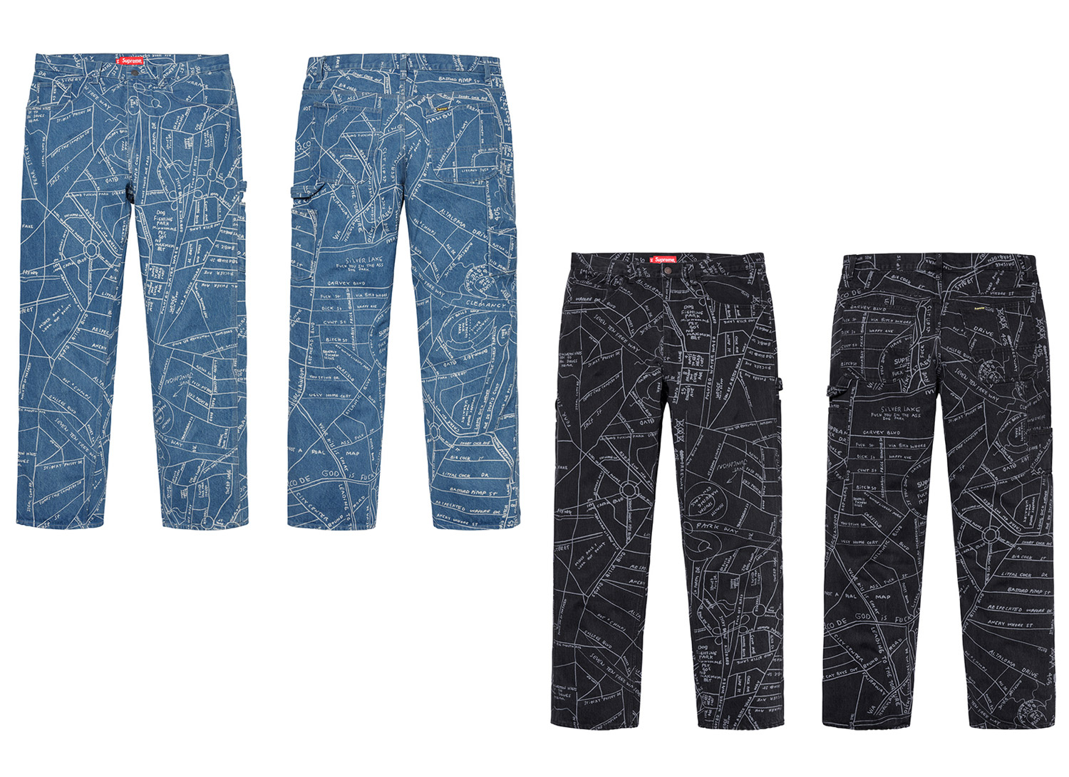 Gonz Map Denim Painter Pant