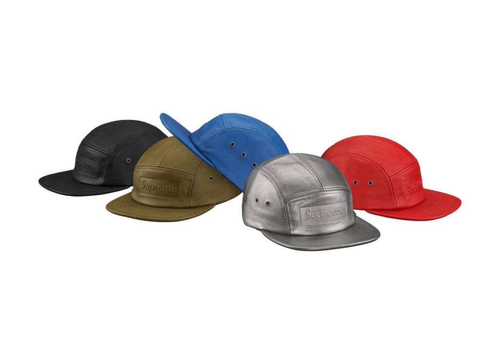 Pebbled Leather Camp Cap