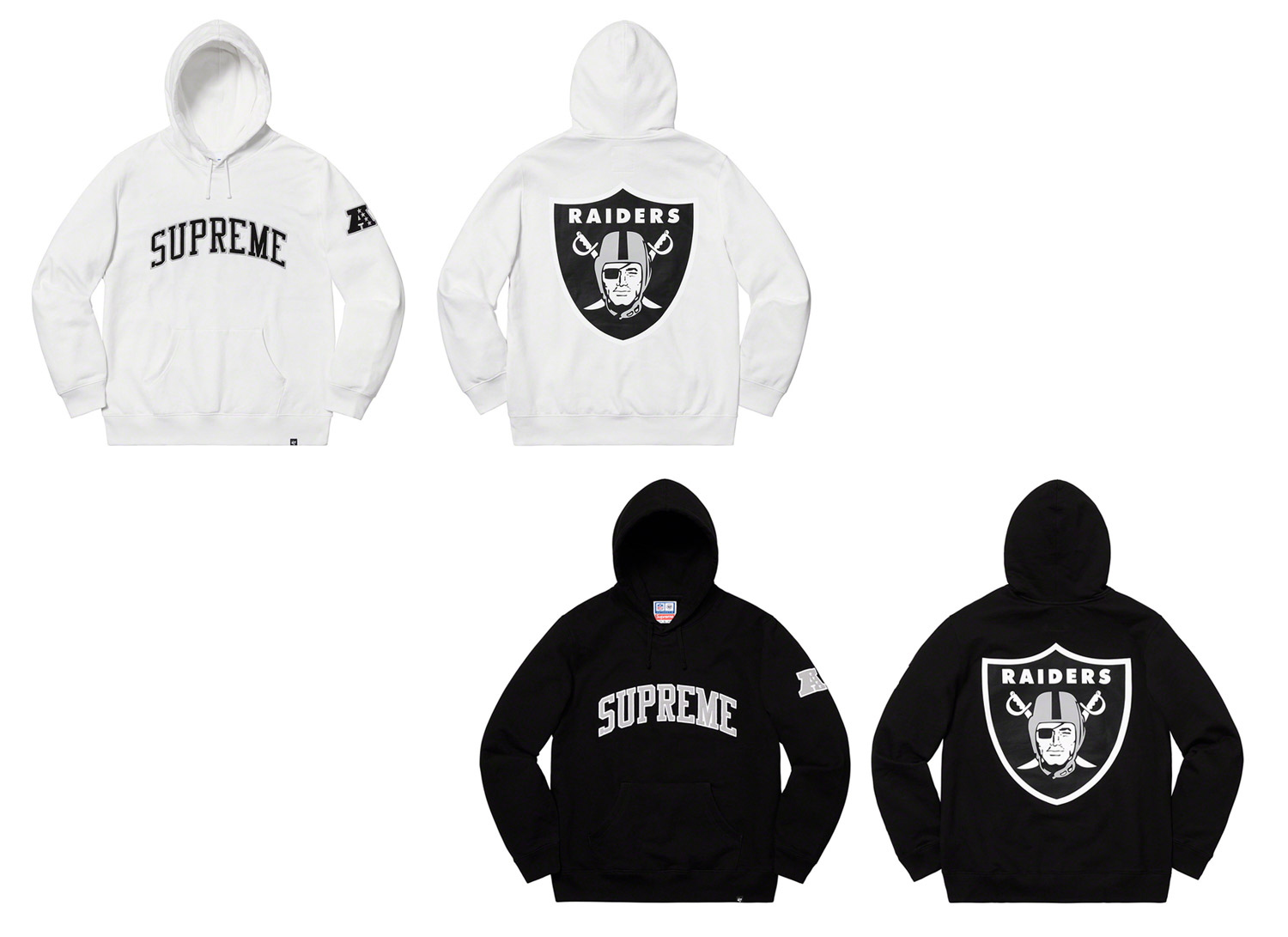 Supreme®/NFL/Raiders/47 Hooded Sweatshirt