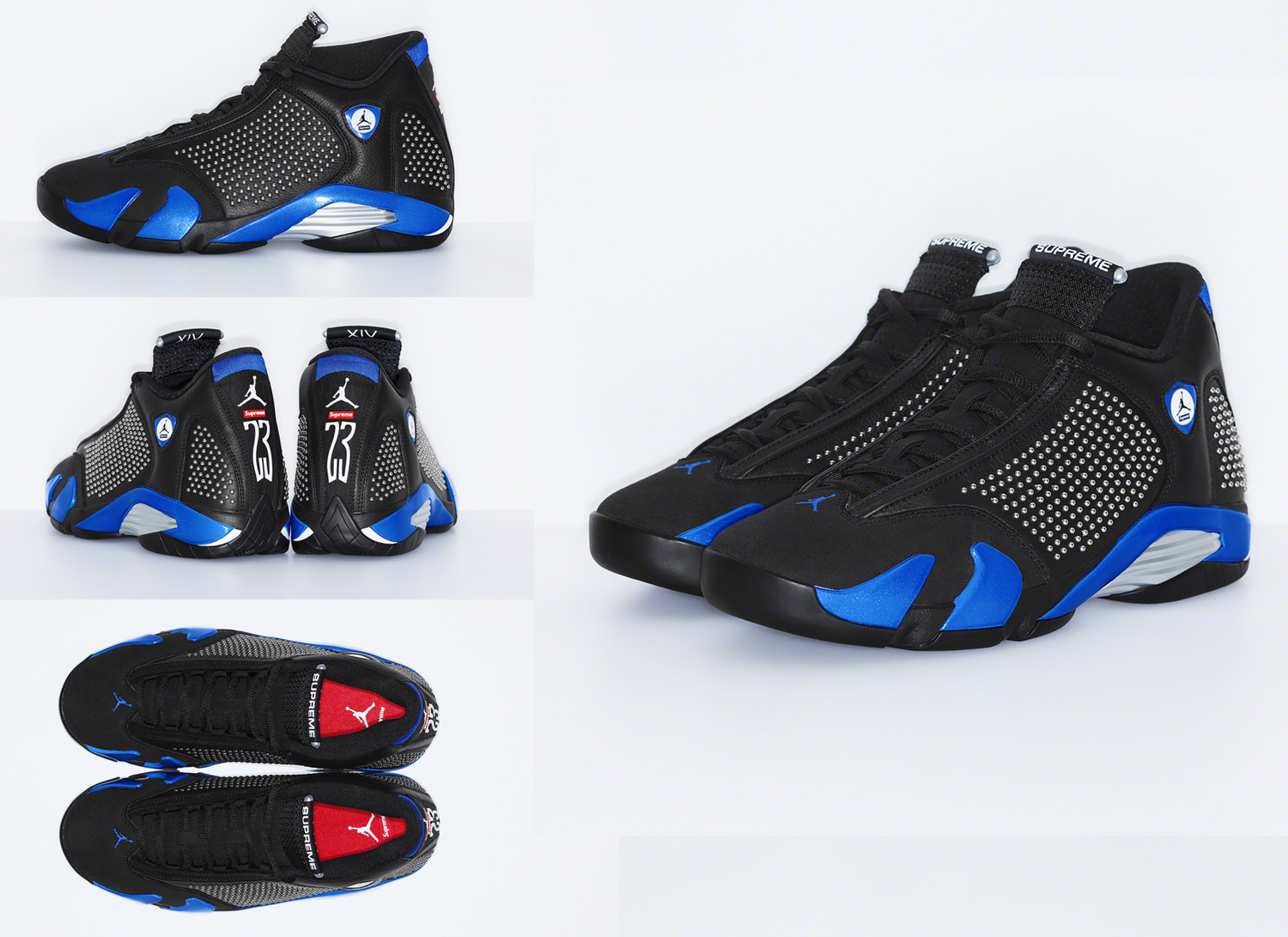 Supreme® × NIKE Air Jordan 14 black