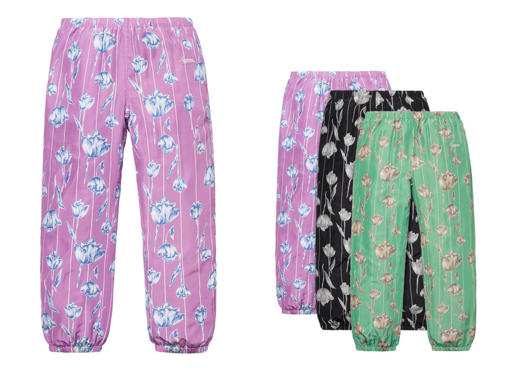 Floral Silk Track Pant