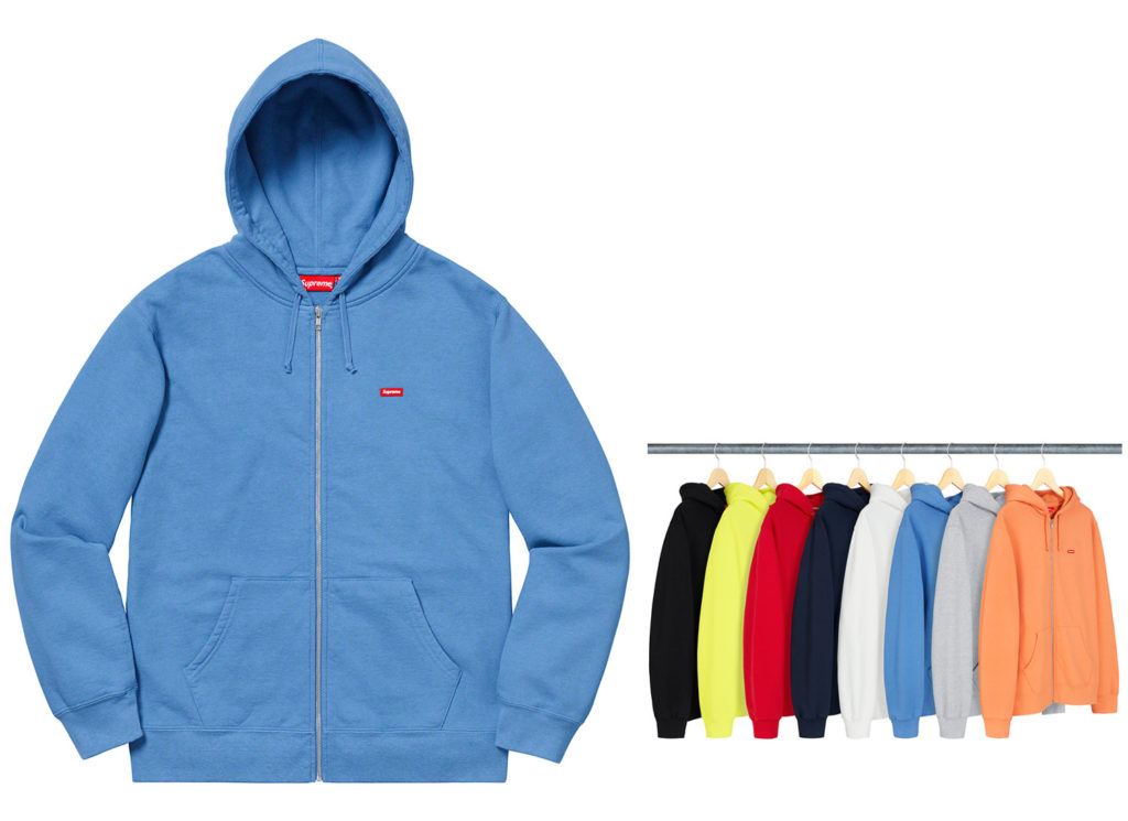 Small Box Zip Up Sweatshirt