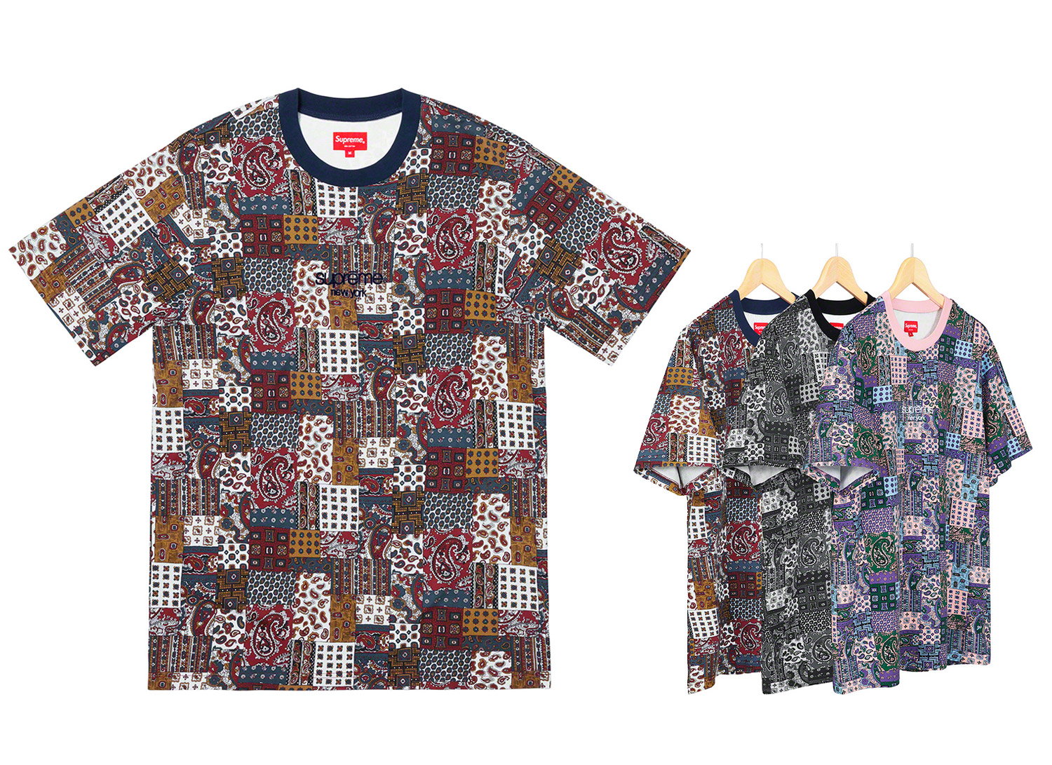 Patchwork Paisley S/S Top